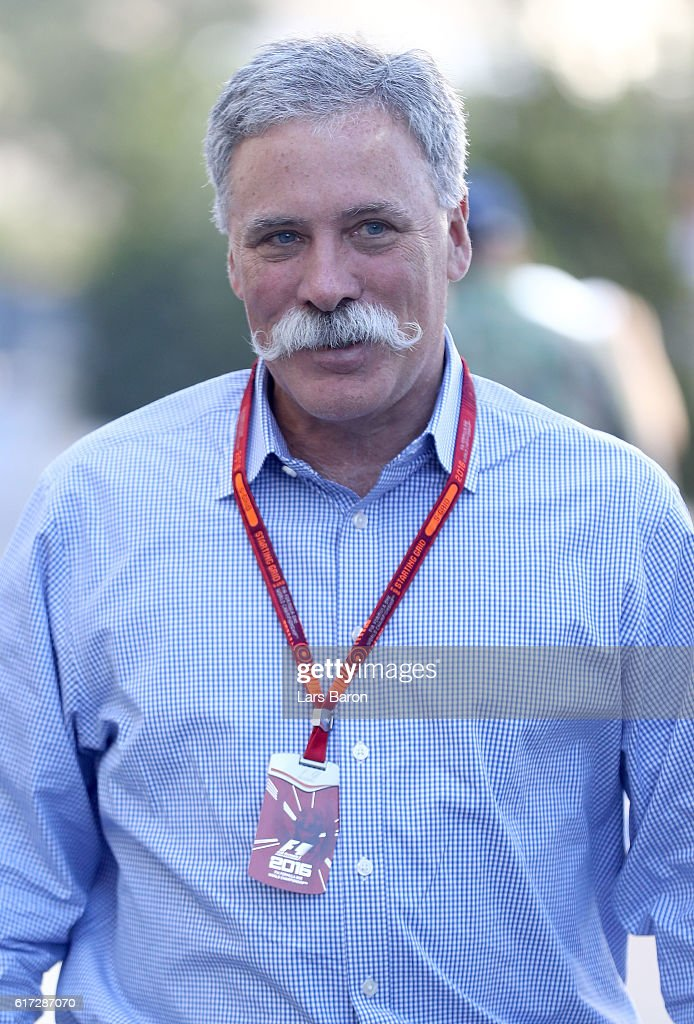 Chase Carey, Chairman of Formula One Group walks in the Paddock after qualifying for the United States Formula One Grand Prix at Circuit of The Americas on October 22, 2016 in Austin, United States.