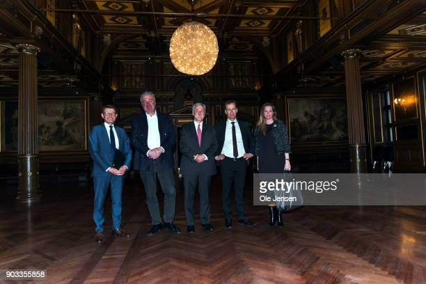Chase Carey chief executive officer and executive chairman of the Formula One Group seen together with Managing Director Jens Klarskov The...