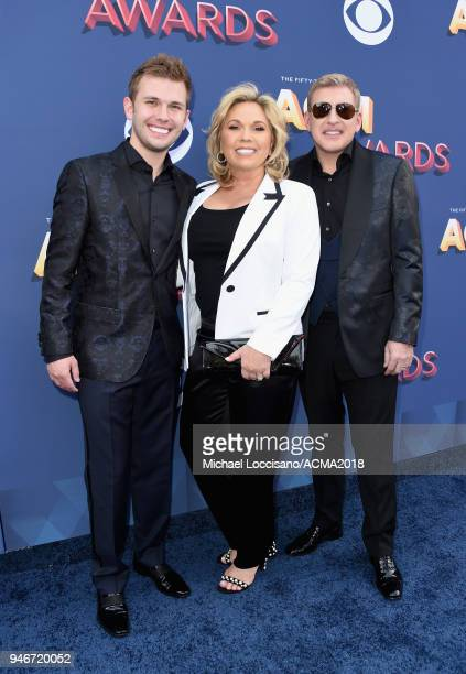 Chase Chrisley Julie Chrisley and Todd Chrisley attend the 53rd Academy of Country Music Awards at MGM Grand Garden Arena on April 15 2018 in Las...