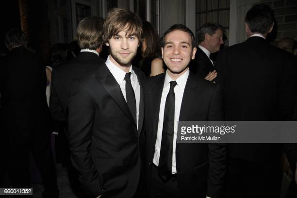 Chase Crawford and Jon Lovett attend BLOOMBERG VANITY FAIR Cocktail Reception After the White House Correspondents' Dinner at The Residence of the...