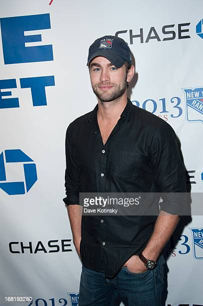 Chase Crawford attends the Washington Capitals vs New York Rangers 2013 Playoff Game Three at Madison Square Garden on May 6 2013 in New York City