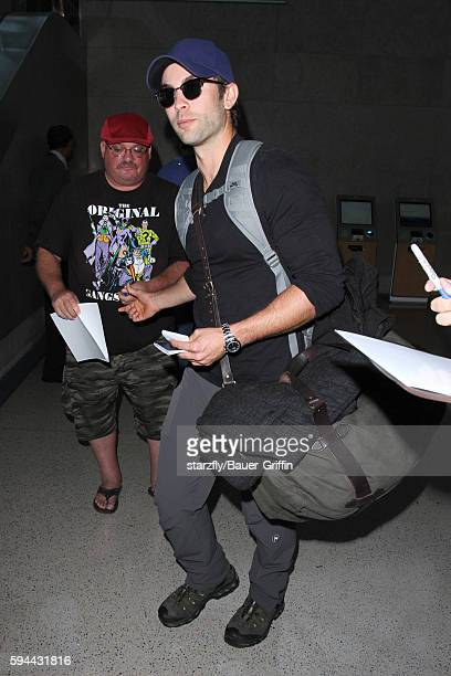 Chase Crawford is seen at LAX on August 23 2016 in Los Angeles California