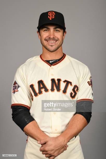 Chase d'Arnaud of the San Francisco Giants poses during Photo Day on Tuesday February 20 2018 at Scottsdale Stadium in Scottsdale Arizona