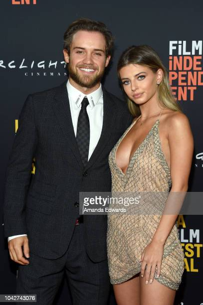 """Chase De Leo and Eliana Jones attend the Closing Night Screening of """"Nomis"""" during the 2018 LA Film Festival at ArcLight Cinerama Dome on September..."""