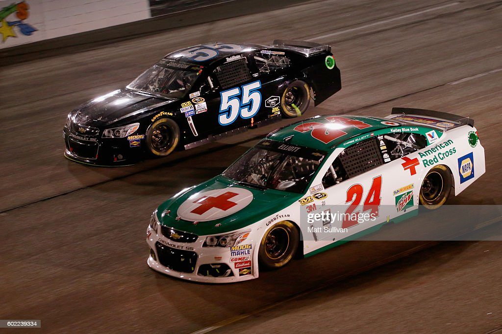 Chase Elliott, driver of the 3M/American Red Cross Chevrolet, races