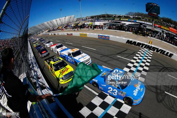 Chase Elliott driver of the Allegiant Airlines/NAPA Chevrolet Matt Crafton driver of the Shasta/Menards Toyota and Johnny Sauter driver of the...