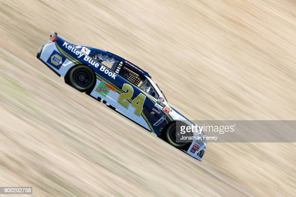 Chase Elliott driver of the Kelley Blue Book Chevrolet drives during practice for the Monster Energy NASCAR Cup Series Toyota/Save Mart 350 at Sonoma...