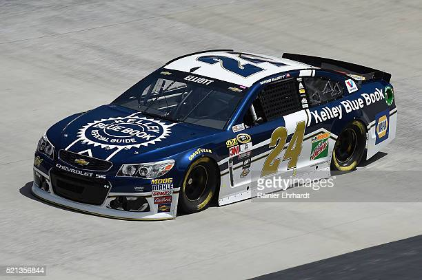 Chase Elliott driver of the Kelley Blue Book Chevrolet practices for the NASCAR Sprint Cup Series Food City 500 at Bristol Motor Speedway on April 14...