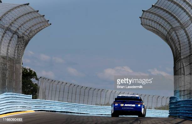 Chase Elliott, driver of the NAPA AUTO PARTS Chevrolet, drives during the Monster Energy NASCAR Cup Series Go Bowling at The Glen at Watkins Glen...