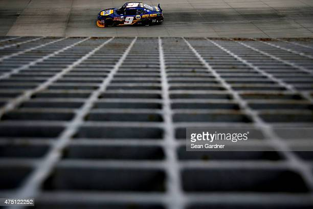 Chase Elliott driver of the NAPA Auto Parts Chevrolet practices during practice for the NASCAR XFINITY Series Buckle Up 200 presented by Click It Or...