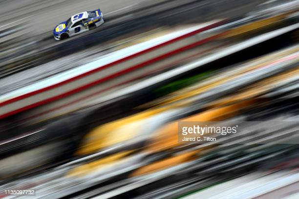 Chase Elliott driver of the NAPA Auto Parts Chevrolet qualifies for the Monster Energy NASCAR Cup Series Food City 500 at Bristol Motor Speedway on...