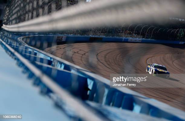 Chase Elliott driver of the NAPA Auto Parts Chevrolet races during the Monster Energy NASCAR Cup Series CanAm 500 at ISM Raceway on November 11 2018...
