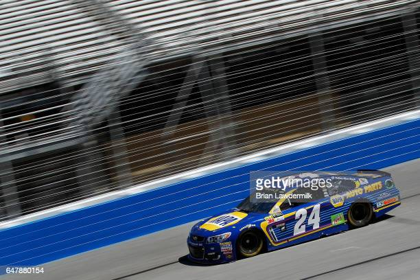 Chase Elliott driver of the NAPA Chevrolet practices for the Monster Energy NASCAR Cup Series Folds of Honor QuikTrip 500 at Atlanta Motor Speedway...