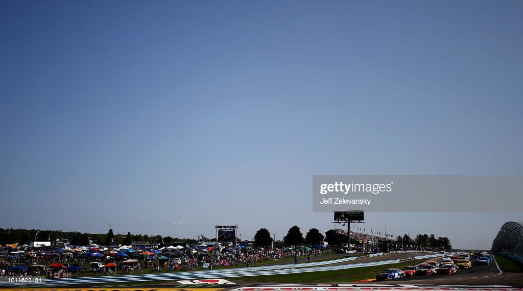 Chase Elliott, driver of the #9 SunEnergy1 Chevrolet, races during the Monster Energy NASCAR Cup Series GoBowling at The Glen at Watkins Glen International on August 5, 2018 in Watkins Glen, New York.