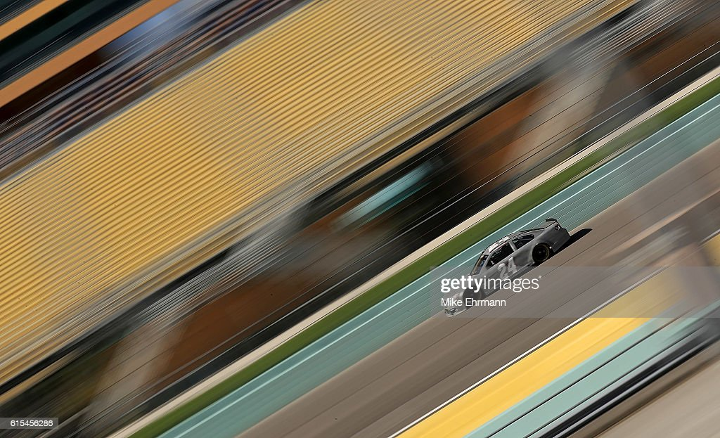 Chase Elliott, drives of the #24 Hendrick Motorsports Chevrolet during testing at Homestead-Miami Speedway on October 18, 2016 in Homestead, Florida.