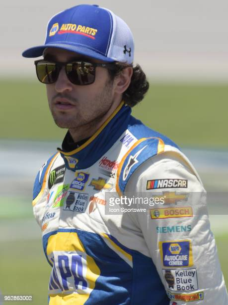 Chase Elliott Hendrick Motorsports Chevrolet Camaro NAPA Auto Parts waits on pit road during the Monster Energy Cup Series 49th Annual Geico 500 on...
