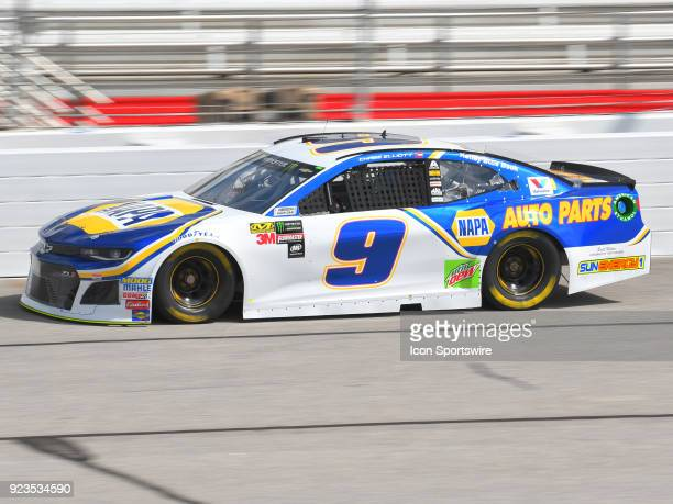 Chase Elliott Hendrick Motorsports NAPA Auto Parts Chevrolet Camaro during practice for the Monster Energy Cup Series Folds of Honor Quiktrip 500 on...