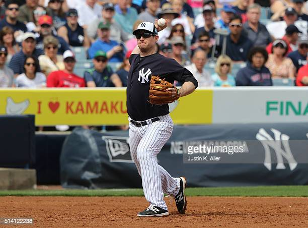 Chase Headley of the New York Yankees in action during the game against the Boston Red Sox at George M Steinbrenner Field on March 5 2016 in Tampa...