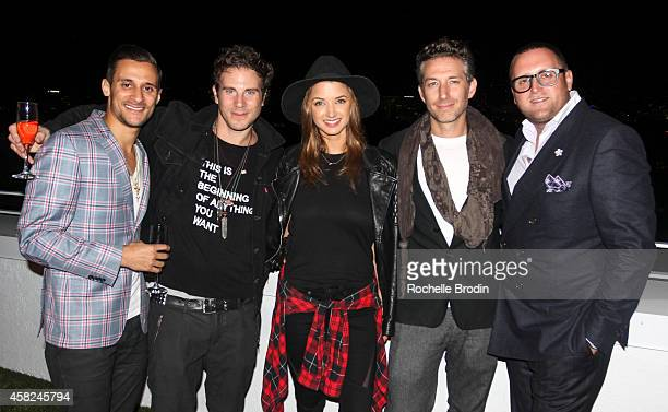 Chase Herro Gregory Siff Alyssa Arce Eli Consilvio and Christopher R King attend The Art of Elysium Private Fundraiser Art Auction hosted by Board...