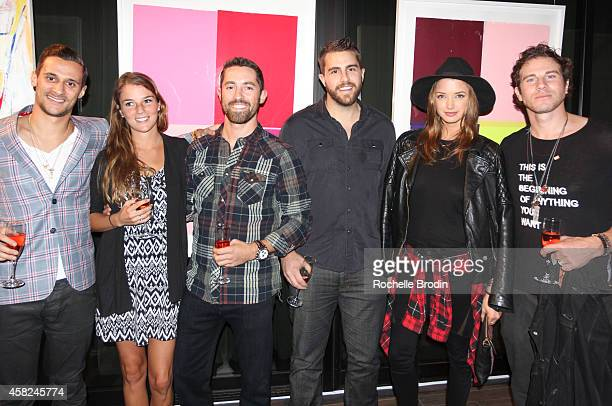 Chase Herro Jaclyn Fitzmaurice Cory Bagett Eric Nordyke Alyssa Arce and Gregory Siff attend The Art of Elysium Private Fundraiser Art Auction hosted...