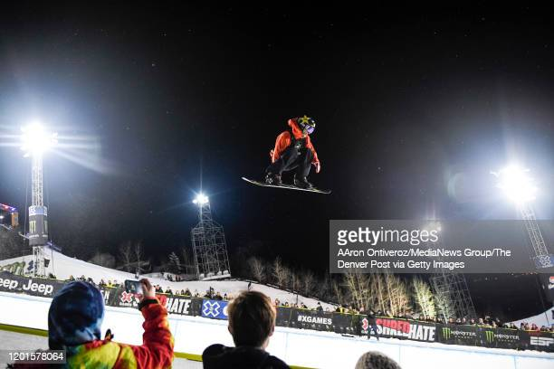 Chase Josey competes during the men's superpipe final at X Games Aspen 2020 at Buttermilk Ski Area on Thursday, January 23, 2020.
