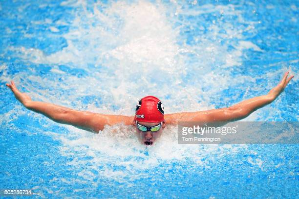 Chase Kalisz competes in a Men's 200 LC Meter Individual Medley during the 2017 Phillips 66 National Championships World Championship Trials at...