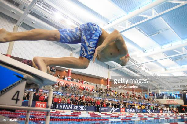 Chase Kalisz competes in the men's 200m butterfly final at the 2018 TYR Pro Series on July 8 2018 in Columbus Ohio