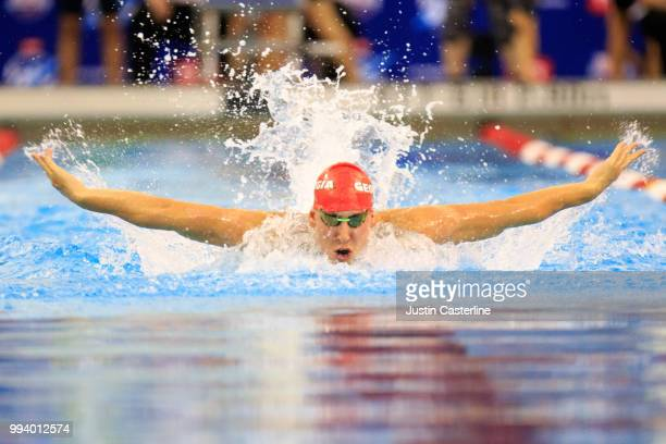 Chase Kalisz competes in the men's 200m butterfly prelims at the 2018 TYR Pro Series on July 8 2018 in Columbus Ohio