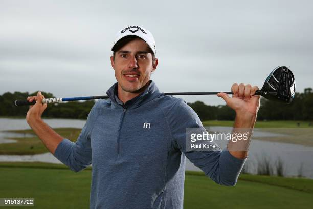 Chase Koepka of the United States poses during the proam ahead of the World Super 6 at Lake Karrinyup Country Club on February 7 2018 in Perth...