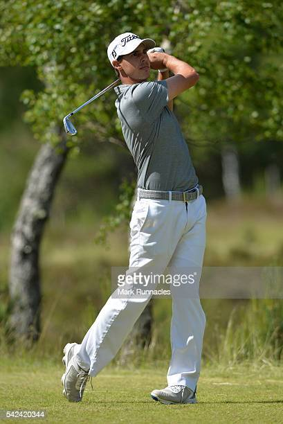 Chase Koepka of the USA at the 10th hole during the first day of the 2016 SSE Scottish Hydro Challenge at the MacDonald Spay Valley Golf Course on...