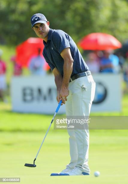 Chase Koepka of the USA putts on the 17th green during the third round of the BMW South African Open Championship at Glendower Golf Club on January...