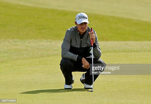 Chase Koepka of USA on the 15th green during the second day of the 2016 SSE Scottish Hydro Challenge at the MacDonald Spay Valley Golf Course on June...