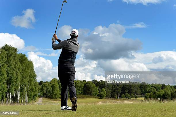 Chase Koepka of USA on the 16th Tee during the second day of the 2016 SSE Scottish Hydro Challenge at the MacDonald Spay Valley Golf Course on June...