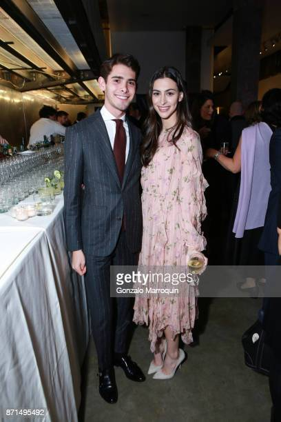 Chase Landow and Melissa Jacobs during A Blade of Grass Annual Night of Alchemy on November 7 2017 in New York City