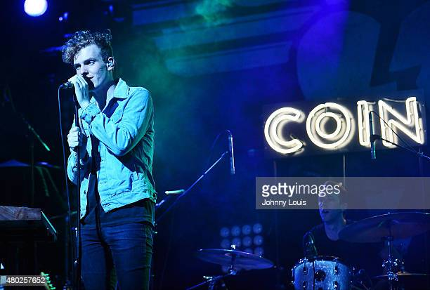 Chase Lawrence and Ryan Winnen of COIN performs during An Intimate Night Out at Revolution Live on July 9, 2015 in Fort Lauderdale, Florida.