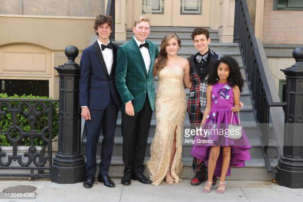Chase Mangum Connor Dean Alyssa de Boisblanc Jax Malcolm and Jordyn Curet attend the 2019 Young Entertainer Awards at Steven J Ross Theatre on the...