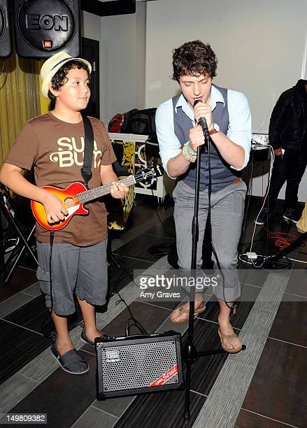 Chase Marquez and Charlie Lubeck perform at the Surprise Party for Caitlin Beadles and the Launch of Caitlin's Foundation Caitlin's Vine Of Bravery...