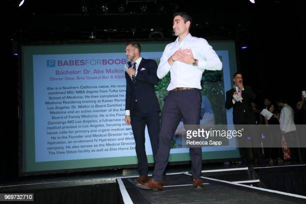 Chase McNary and participating Bachelor attend Babes for Boobs Live Auction Benefiting Susan G Komen LA at El Rey Theatre on June 7 2018 in Los...
