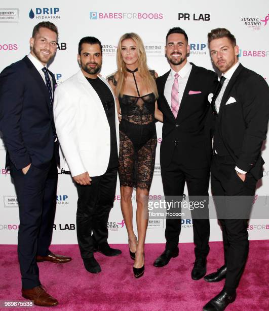 Chase McNary Shervin Roohparvar Brandi Glanville Josh Murray and Joss Mooney attend the Babes for Boobs live auction benefiting Susan G Komen LA at...