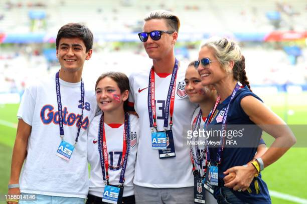 Chase Melton Amma Melton Abby Wambach former USA player Tish Melton and Glennon Doyle pose for a picture prior to the 2019 FIFA Women's World Cup...