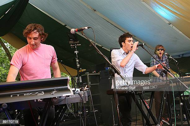 Chase Nicholl Jan Rosenfeld and Karl Hohn of Yes Giantess perform on stage on the second day of Latitude Festival at Henham Park Estate on July 17...