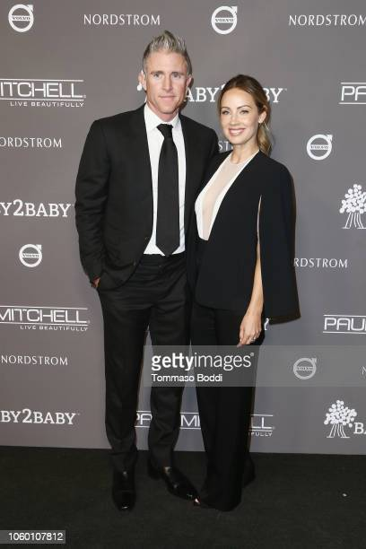 Chase Utley and Jennifer Cooper attend the 2018 Baby2Baby Gala Presented by Paul Mitchell at 3LABS on November 10 2018 in Culver City California