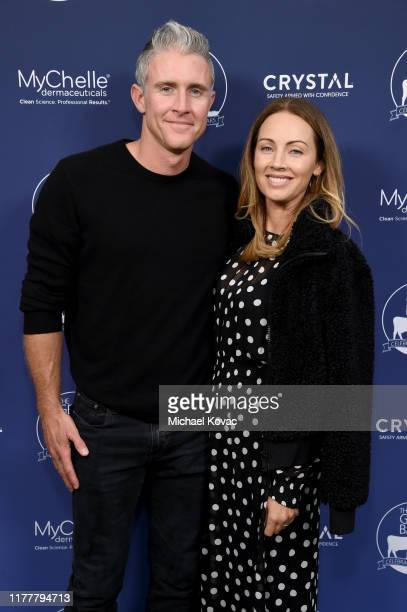 Chase Utley and Jennifer Utley arrive at The Gentle Barn's 20th Anniversary Celebration at The Gentle Barn on September 28 2019 in Santa Clarita...