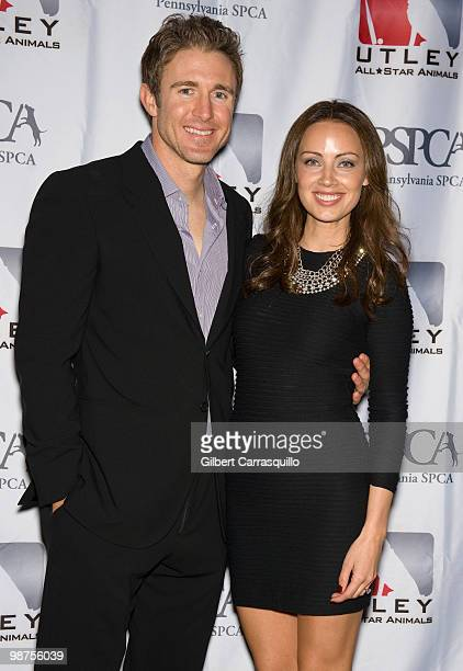 Chase Utley of Philadelphia Phillies and wife Jennifer Utley attend the 3rd Annual Utley AllStars Animal Casino Night to benefit the Pennsylvania...