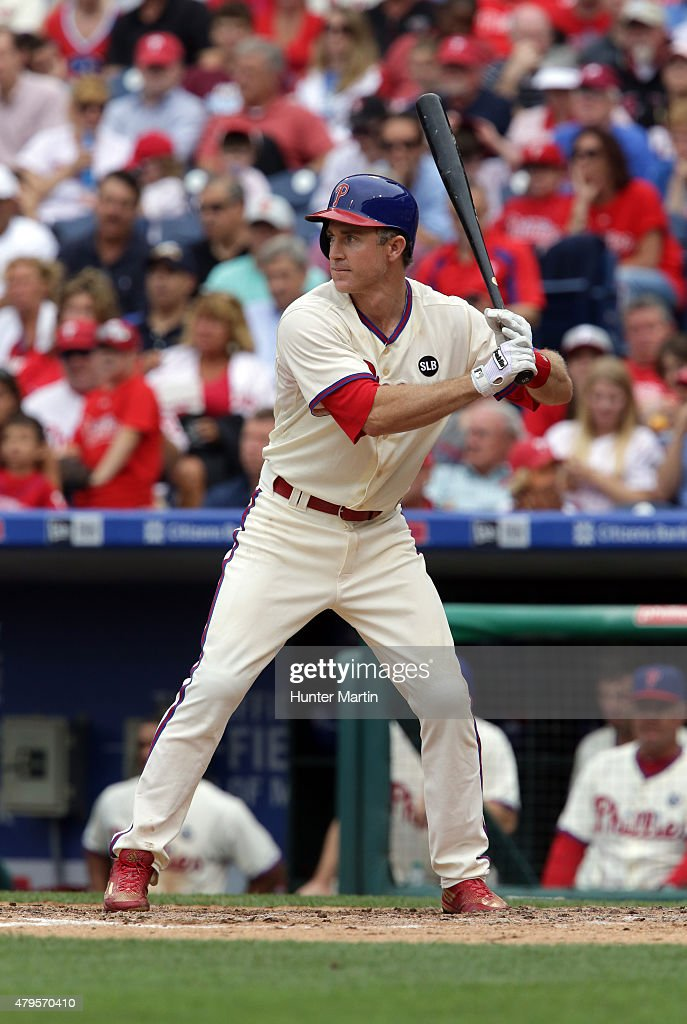 Chase Utley of the Philadelphia Phillies during a game against the... Photo d'actualité - Getty ...