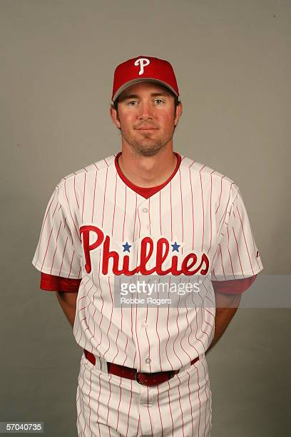 Chase Utley of the Philadelphia Phillies during photo day at Bright House Networks Field on February 23 2006 in Clearwater Florida
