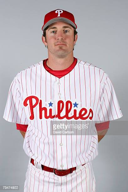 Chase Utley of the Philadelphia Phillies poses during photo day at Bright House Networks Field on February 24 2007 in Clearwater Florida