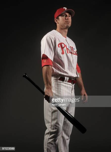 Chase Utley of the Philadelphia Phillies poses for a photo during Spring Training Media Photo Day at Bright House Networks Field on February 24 2010...