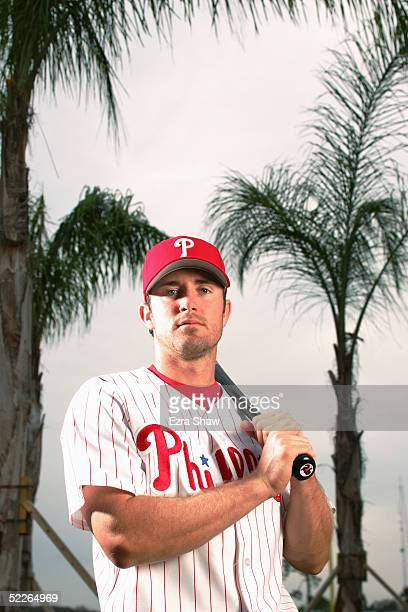 Chase Utley of the Philadelphia Phillies poses for a portrait during Phillies Photo Day at Bright House Networks Field on February 24, 2005 in...