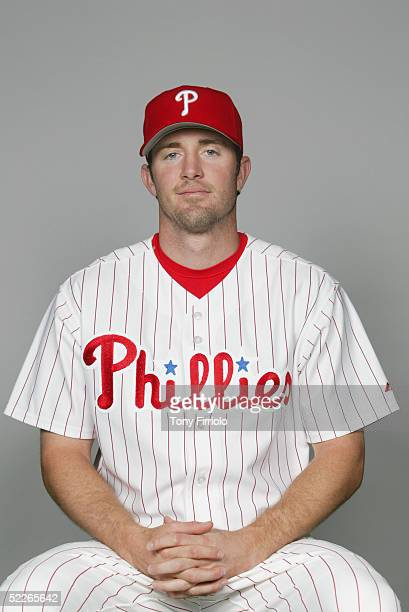 Chase Utley of the Philadelphia Phillies poses for a portrait during photo day at Bright House Networks Field on February 24, 2005 in Clearwater,...
